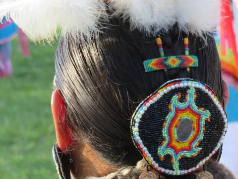 Details of traditional garb at the Shinnecock Powwow in Southampton